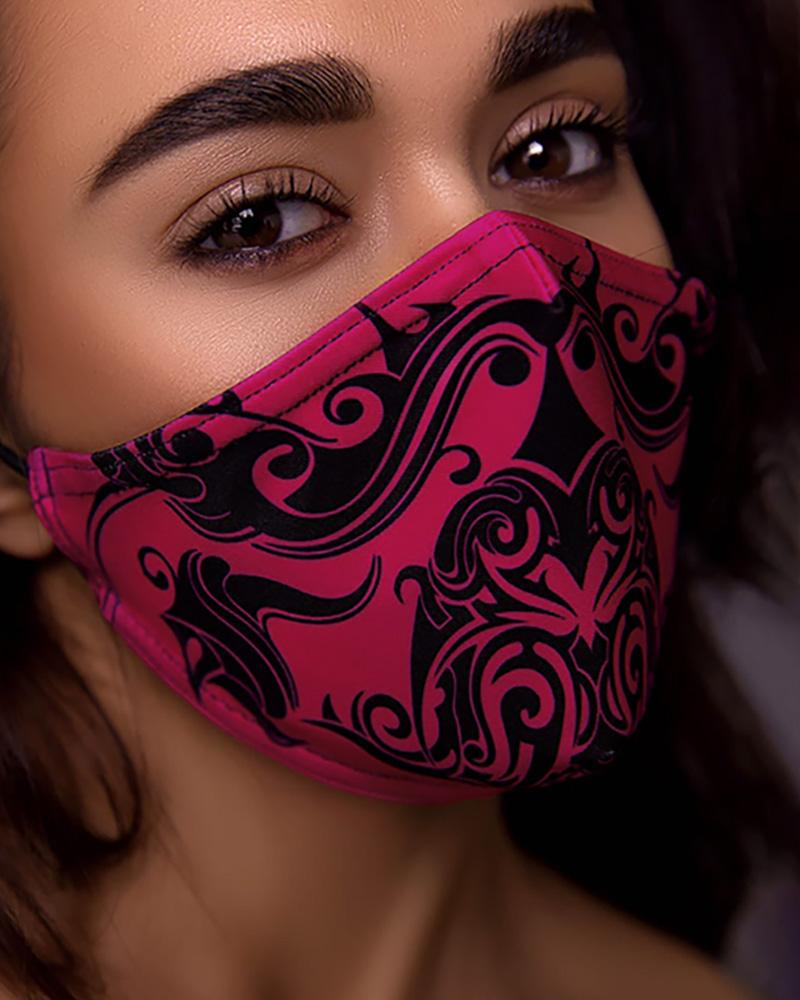 Print Breathing Washable Face Mask (1 filters as gift) фото