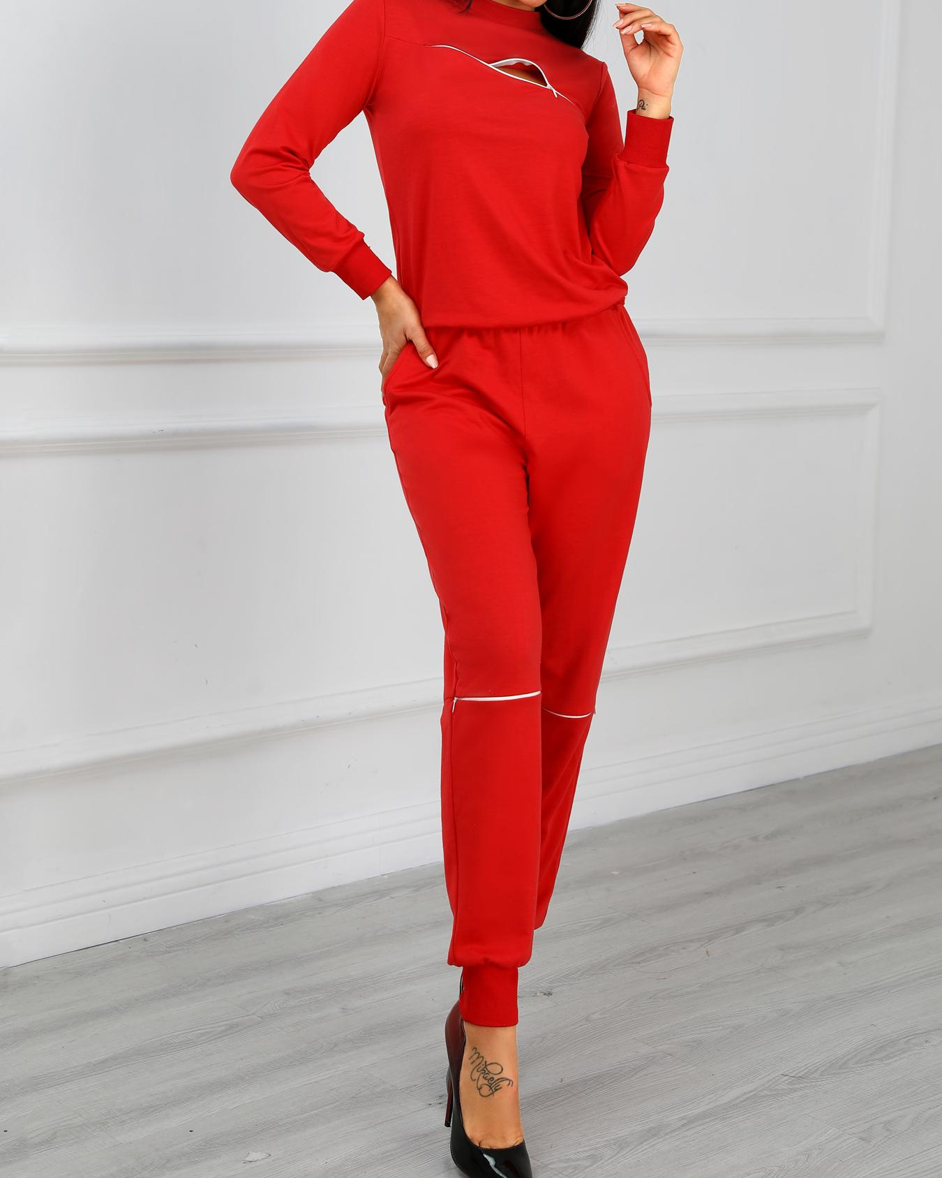 Fashion Zipper Embellished Casual Sweatshirt Pants Set