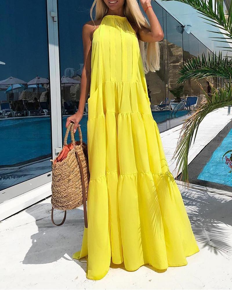 Sleeveless Tiered Maxi Dress фото