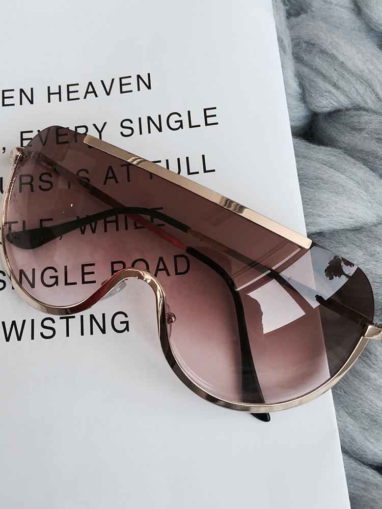Rimless Style One Piece Sunglasses