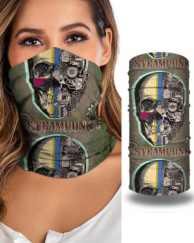 Skull Print Breathable FaceBandana Magic Scarf Headwrap Balaclava фото