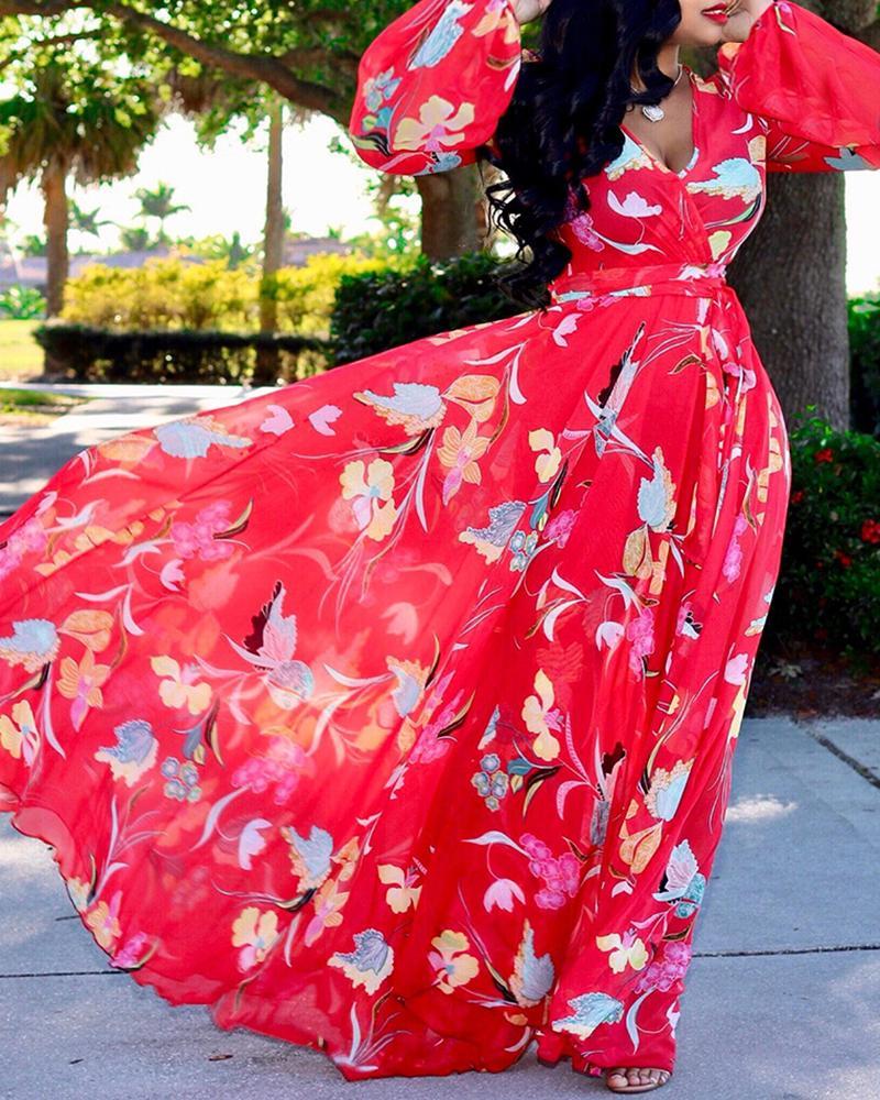 boutiquefeel / Vestido com estampa Warp Maxi