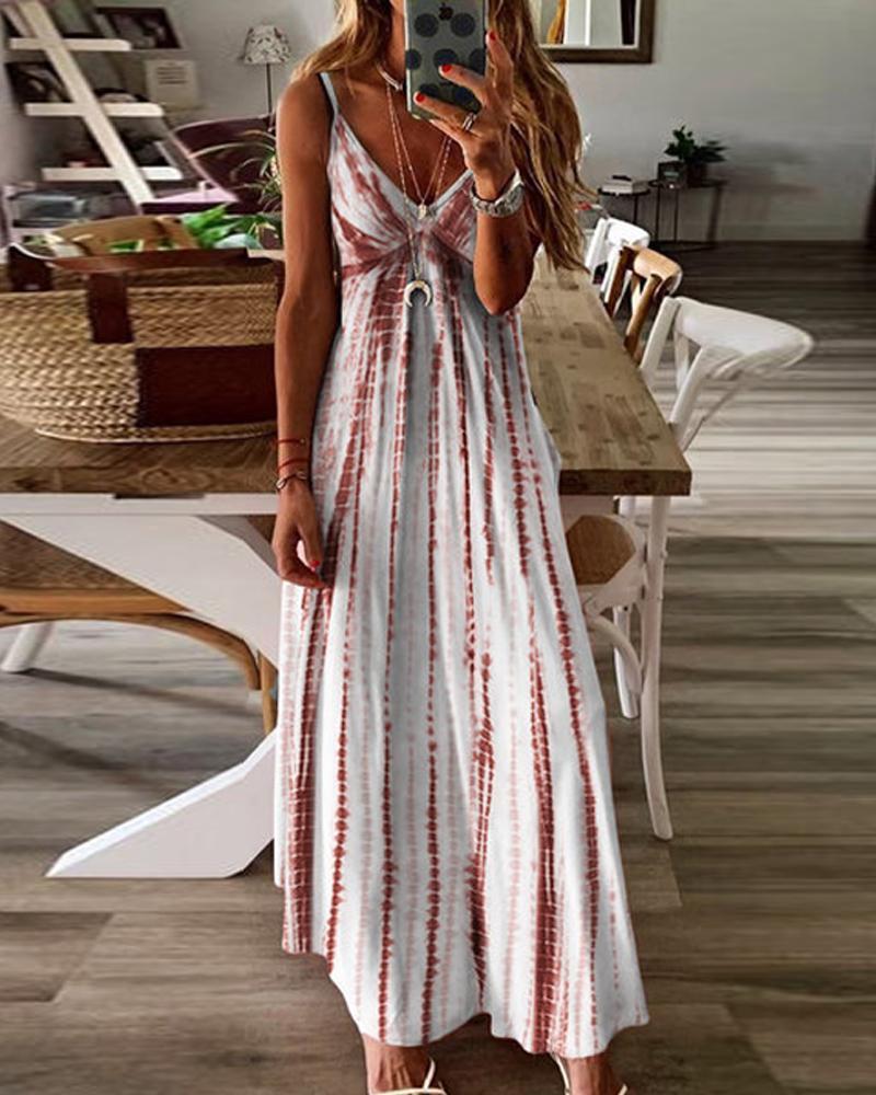 Tie Dye Cami Maxi Dress фото