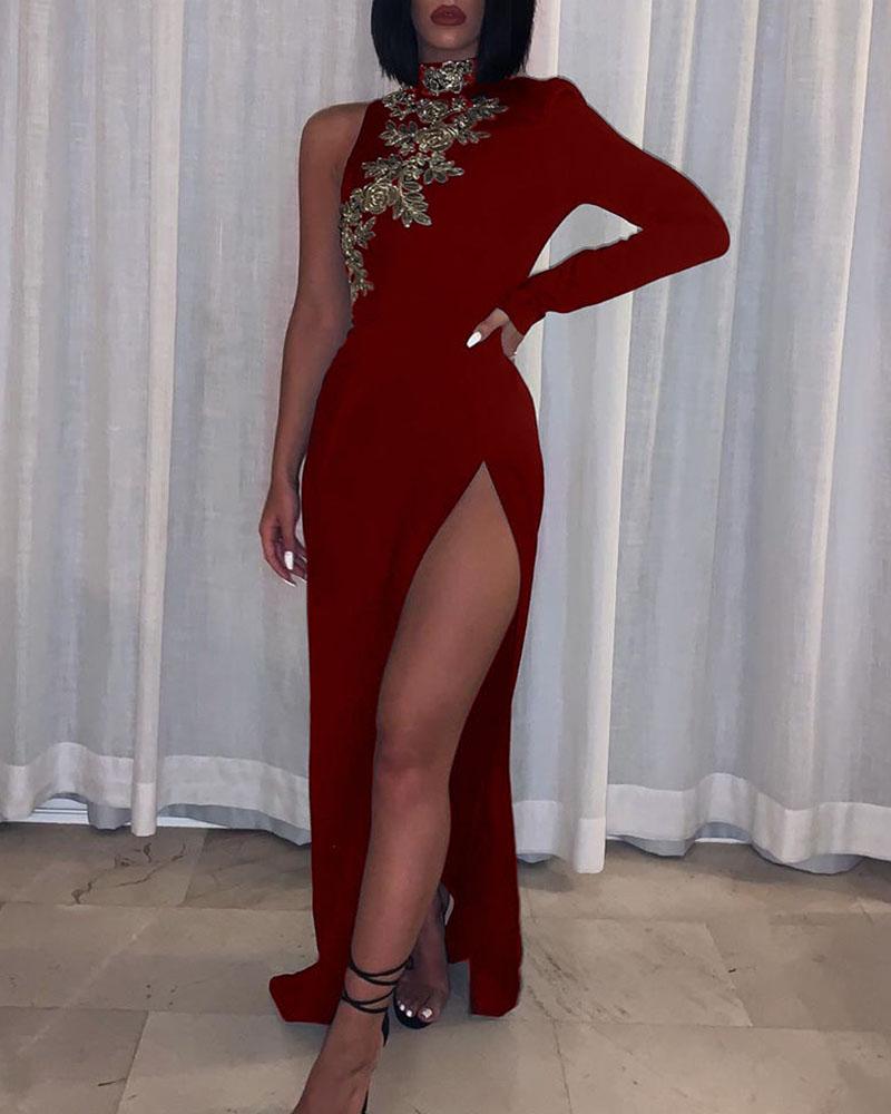 chicme / Vestido de fiesta de corte alto con un hombro