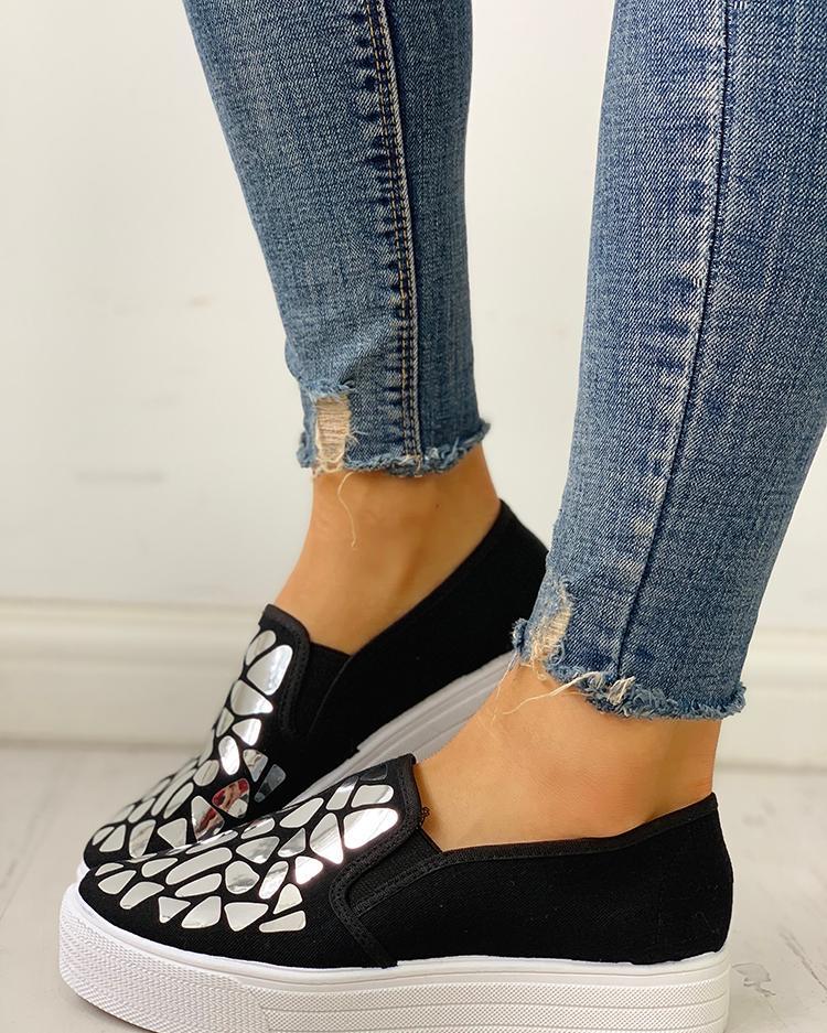 Блесток Украшенные Плоские Туфли