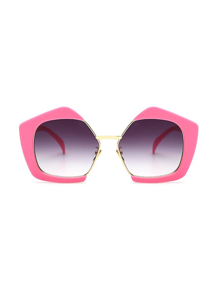 Oversized Frame Lens Sunglasses - Pink