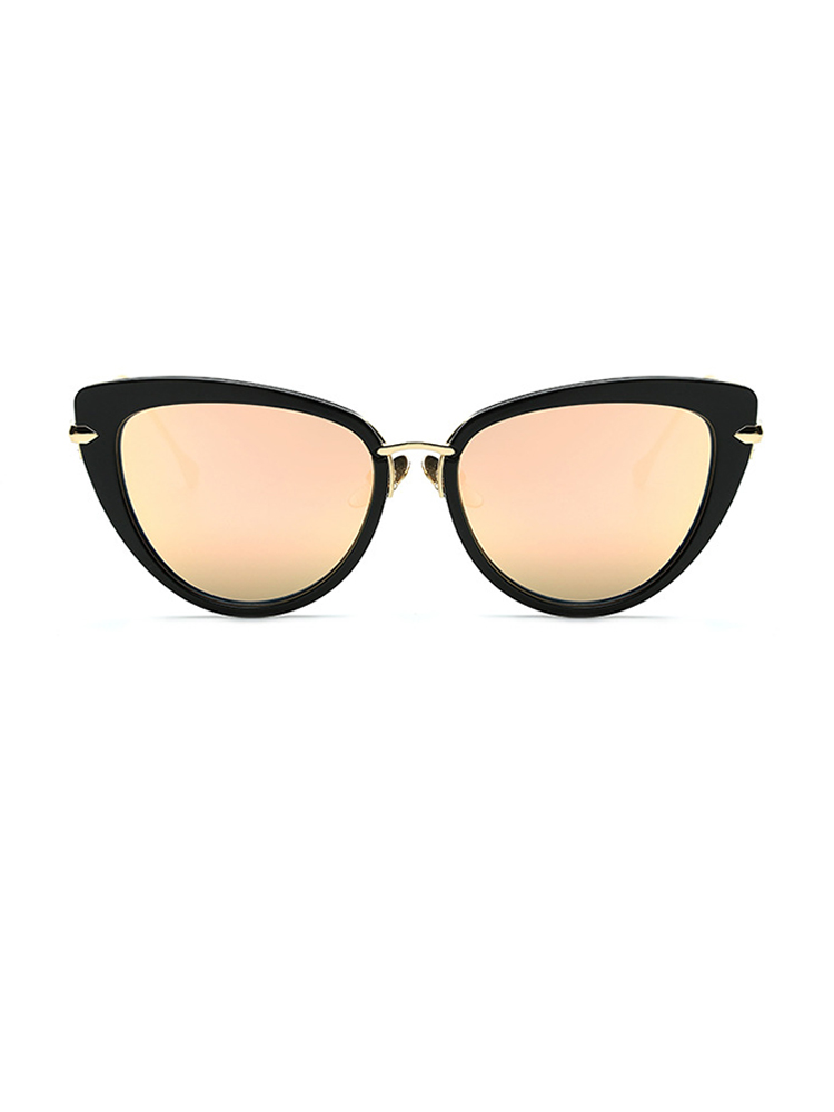 Vintage Cat Eye Lens Sunglasses - Rose Gold