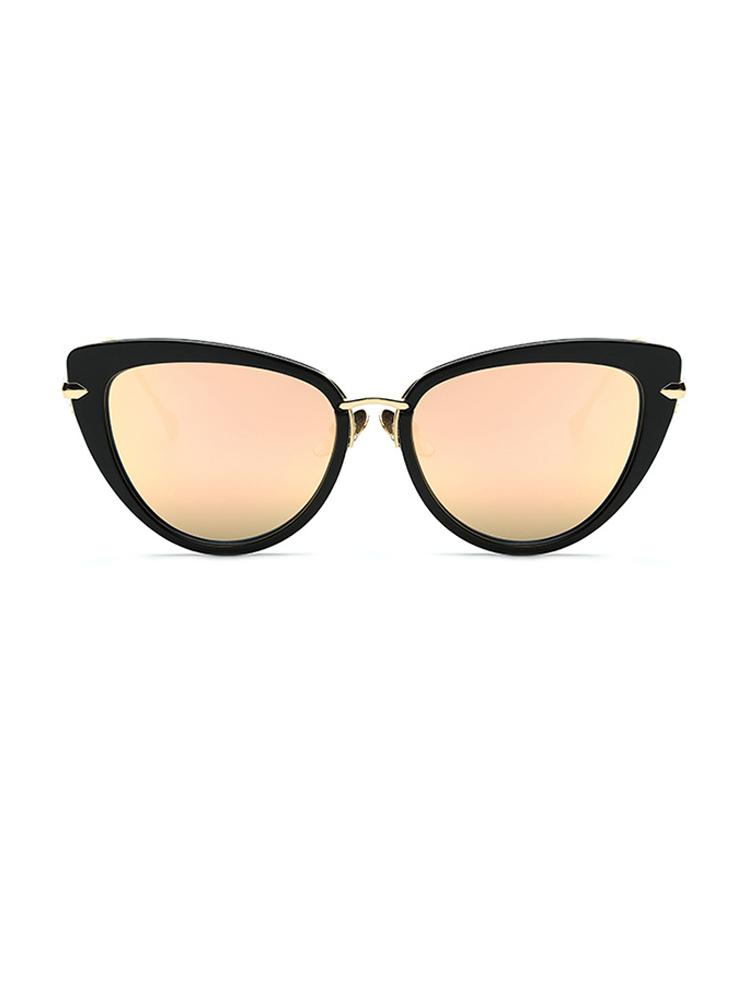 Vintage Cat Eye Lens Sunglasses - Rose Gold