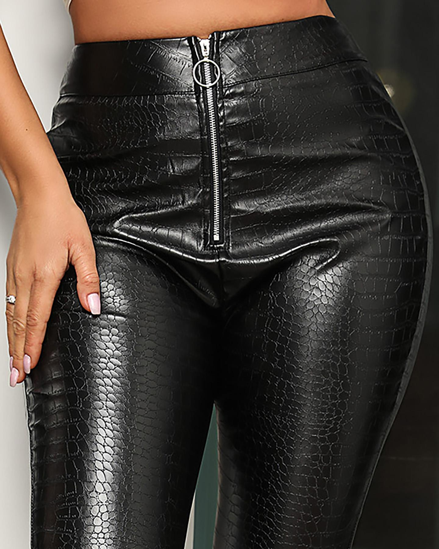 Faux Leather High Waist Pant фото