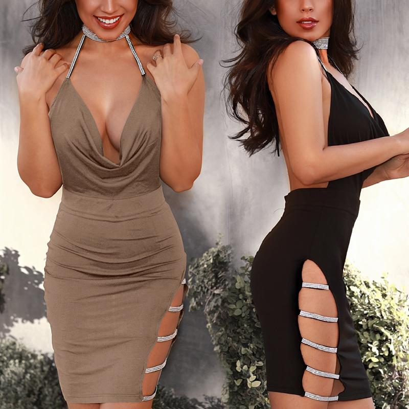 Sequins Ladder Cutout Open Back Bodycon Dress фото