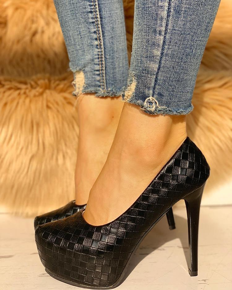 chicme / Sapatos de salto alto com saltos finos