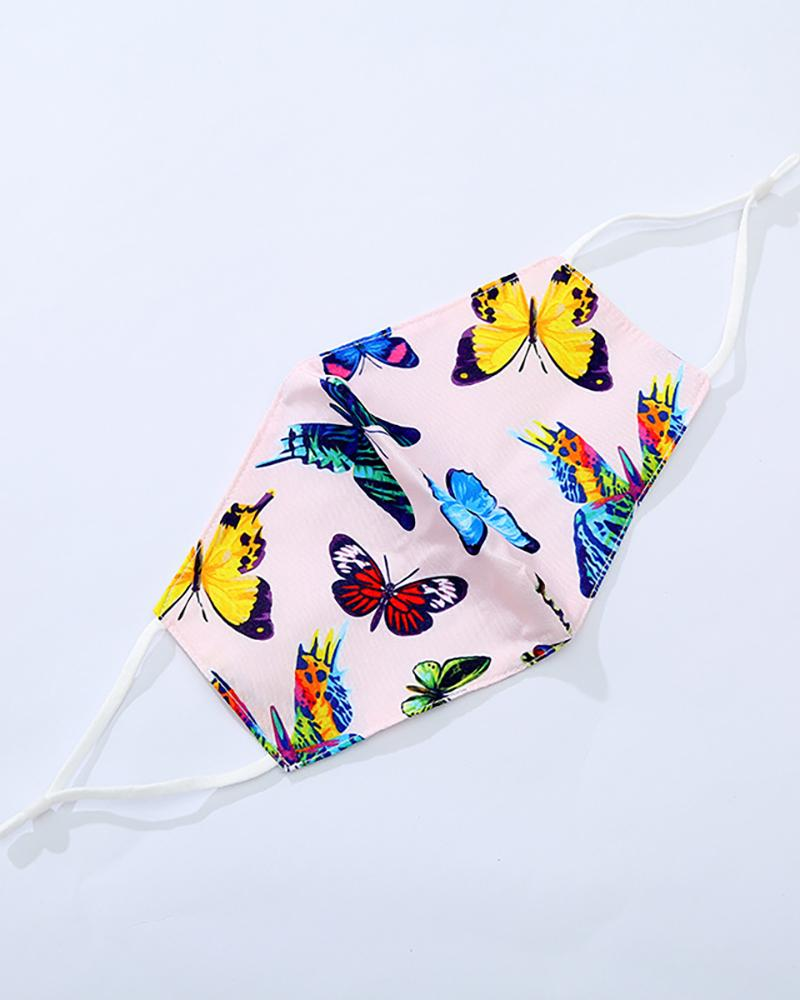 Butterfly / Daisy / Fruit Print Breathable Mouth Mask фото
