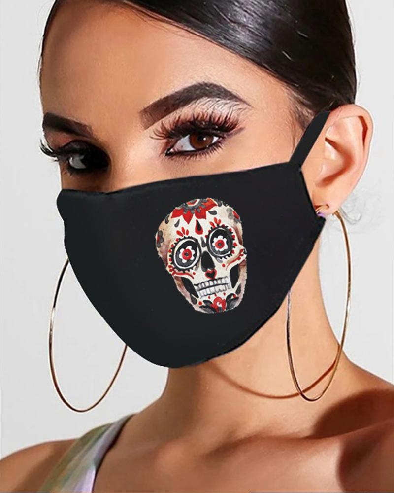 Halloween Skull / Ghost / Pumpkin Print Breathable Mouth Mask фото