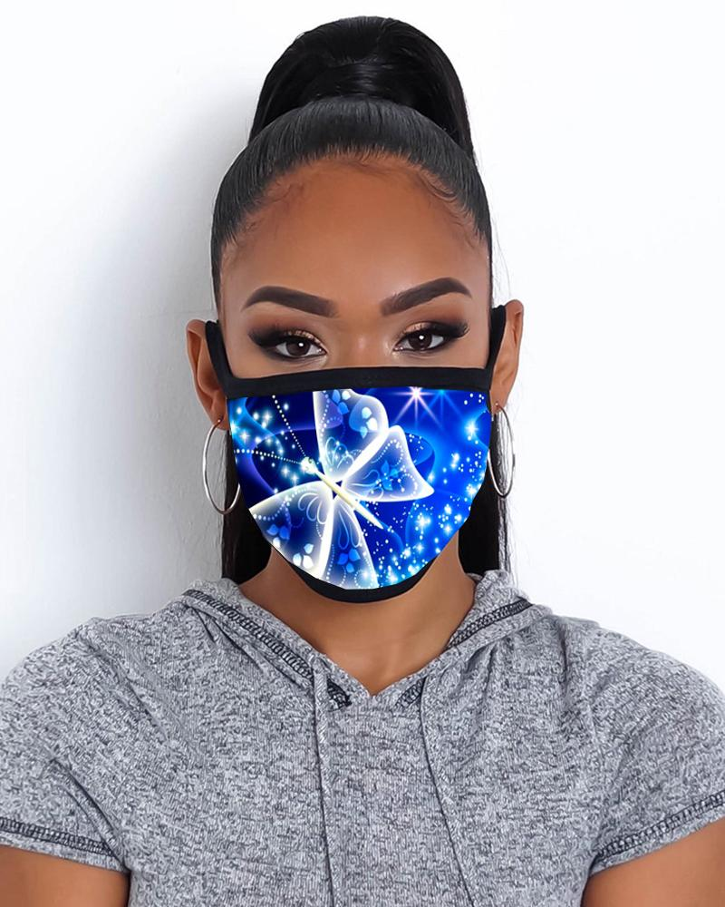 Butterfly Print Breathable Mouth Mask Washable And Reusable фото