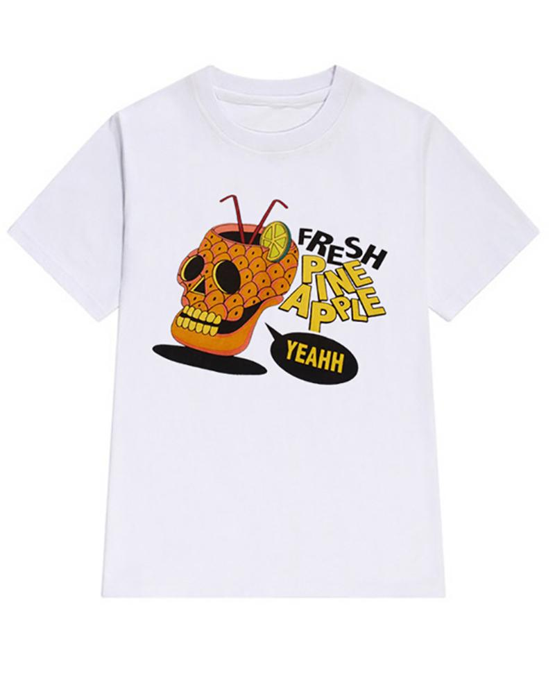 Casual Print Halloween T-shirt фото
