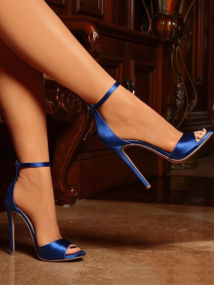 ivrose / Sexy Open Toe Strap Anklet Heeled Sandals