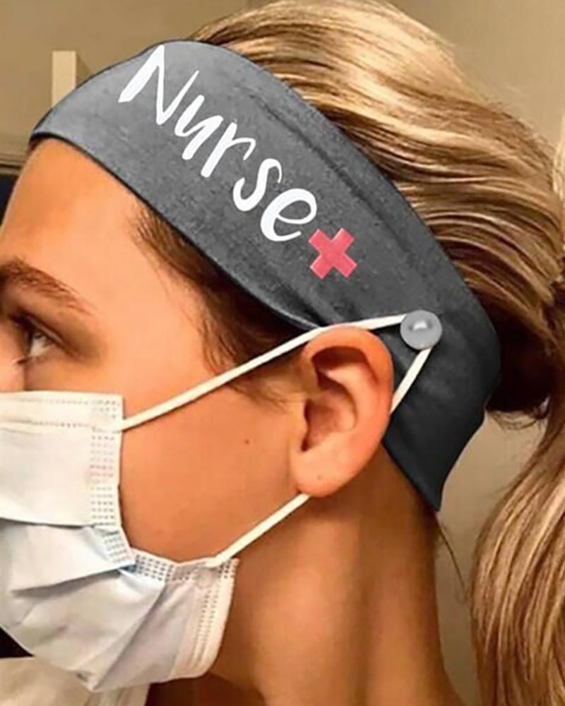 Button Wide Headband Elastic Facemask Holder фото
