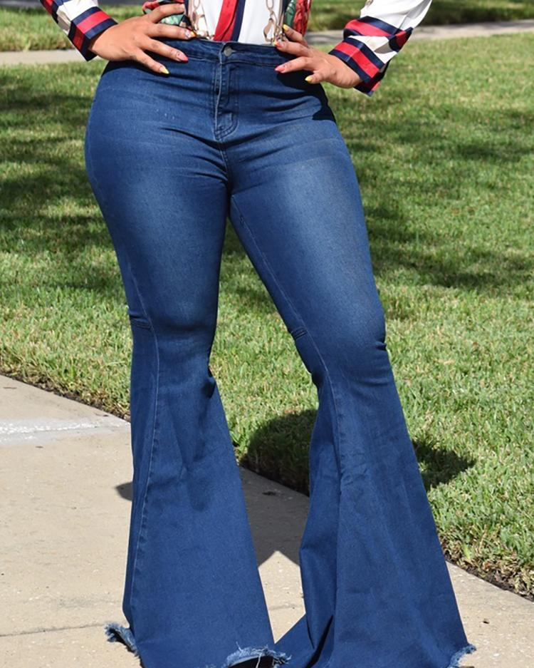 Fashion High Waist Flared Jeans