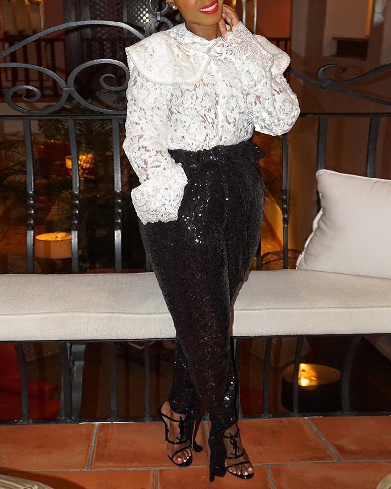 Embellished Side Pocket Long Pants фото