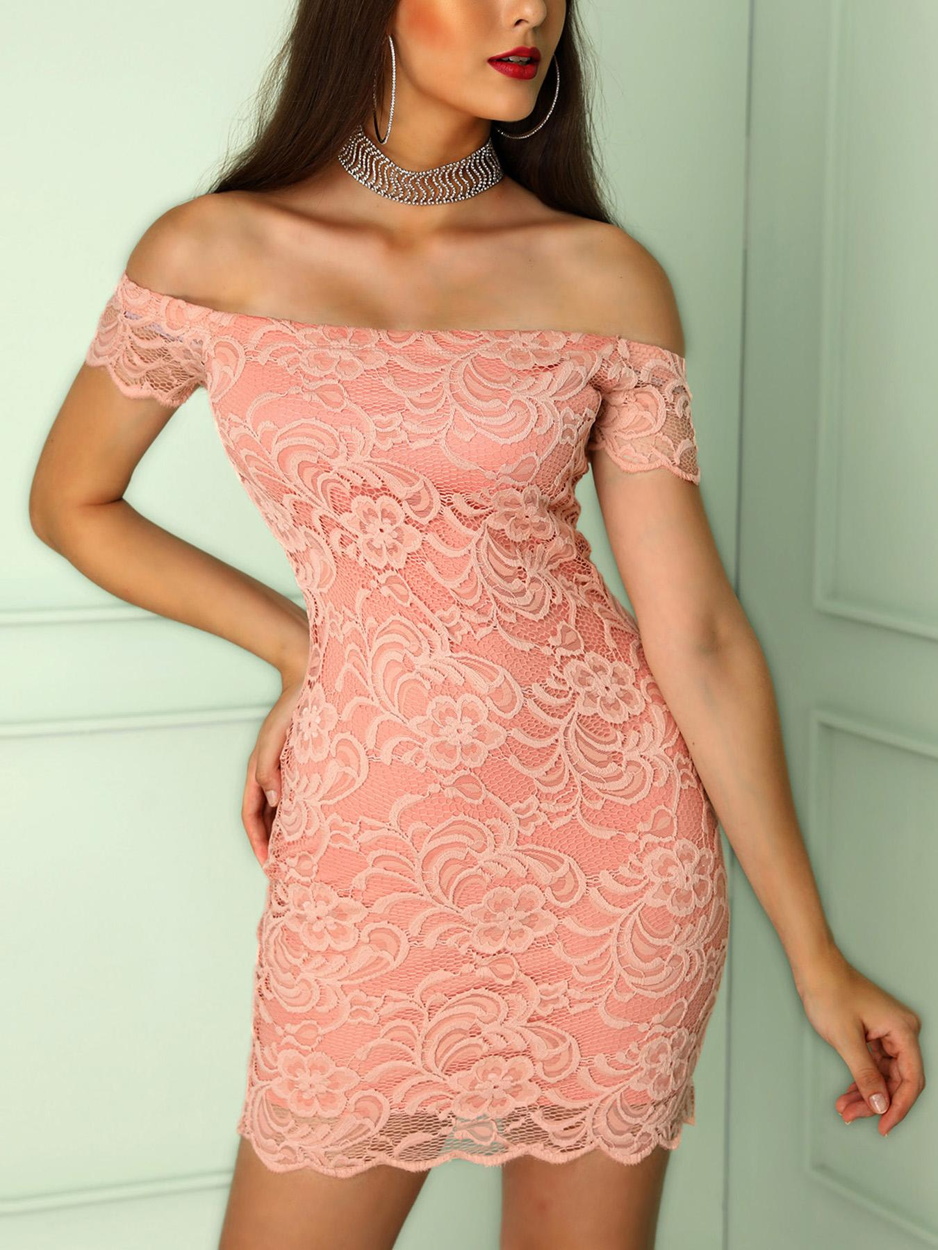 boutiquefeel / Off Shoulder Lace Bodycon Dress