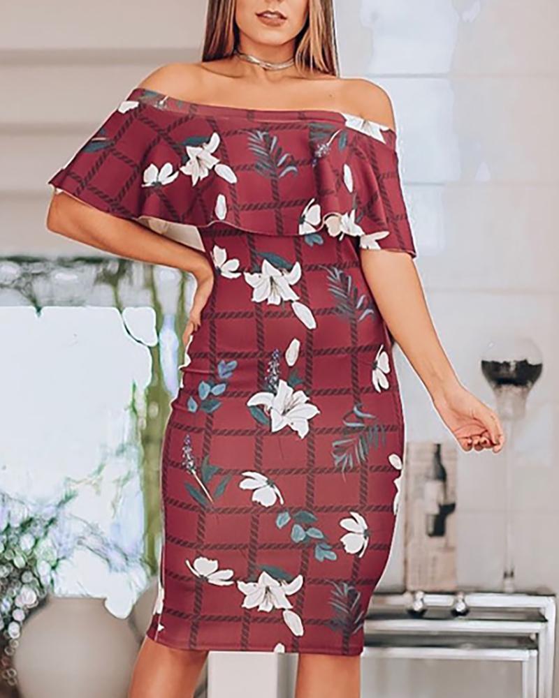 ivrose / Ruffles Package Hip Dress