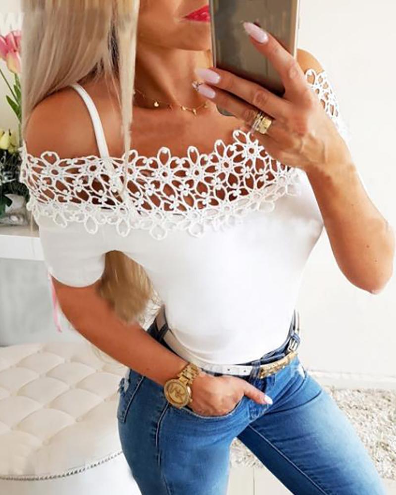 ivrose / Camiseta con hombros descubiertos y hombros descubiertos