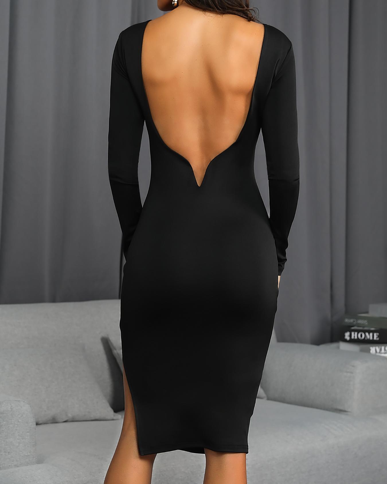 boutiquefeel / Vestido de fiesta con abertura lateral en la espalda abierta