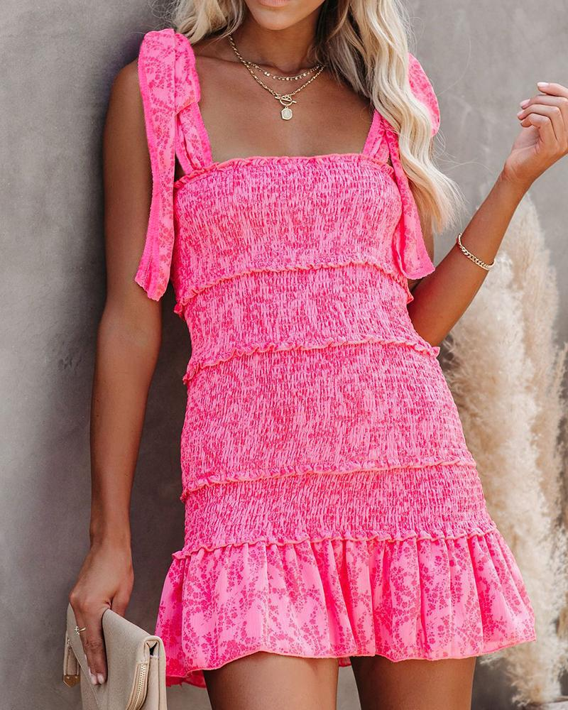 Tiered Ruffle Ruched Cami Dress фото