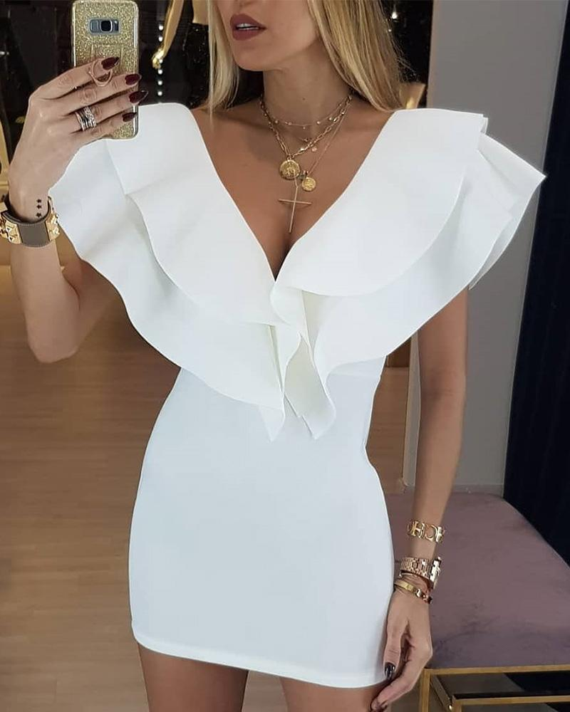 chicme / Layered Ruffles Design Bodycon Dress