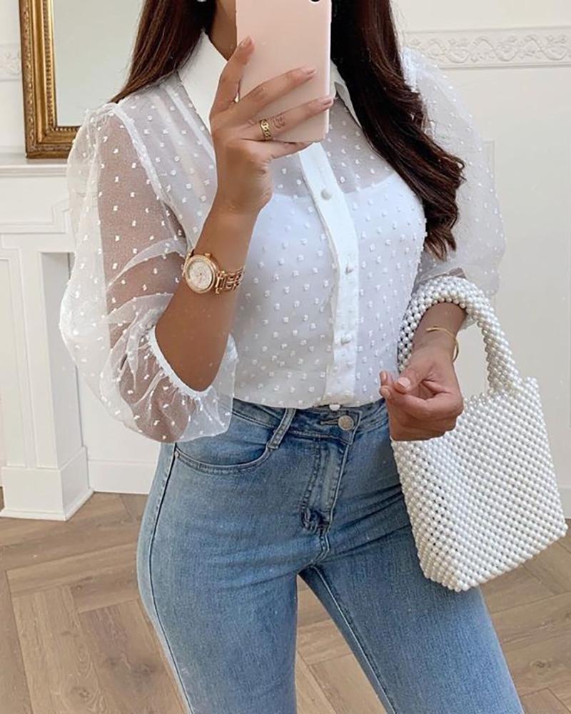 chicme / Blusa de malha pura Swiss Blusa Casual