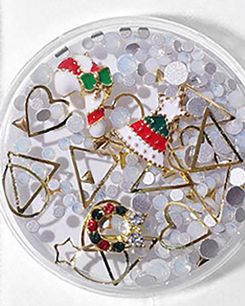 1Box Christmas Pattern Nail Art Decoration6