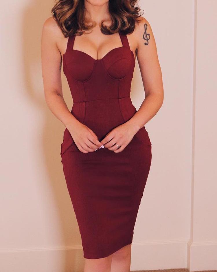 Sweetheart Neck Sleeveless Dress фото