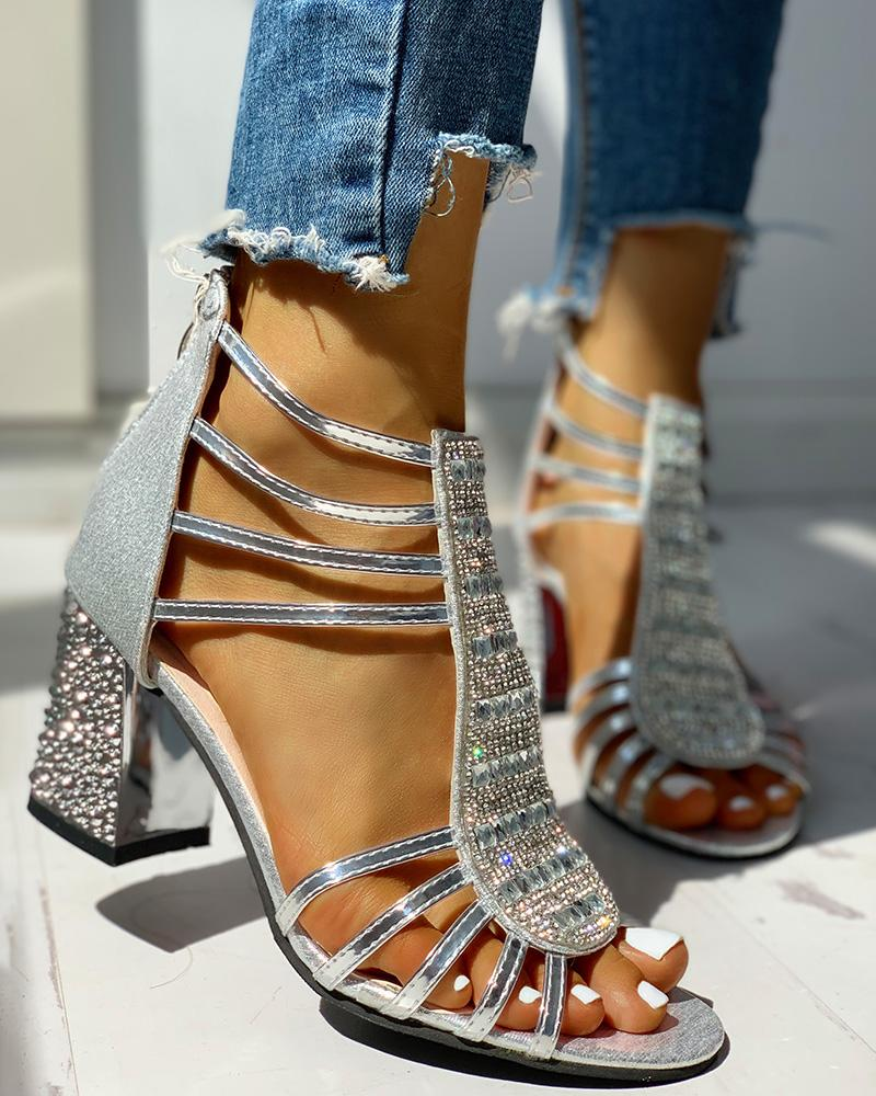 Studded Multi-Strap Chunky Sandals фото