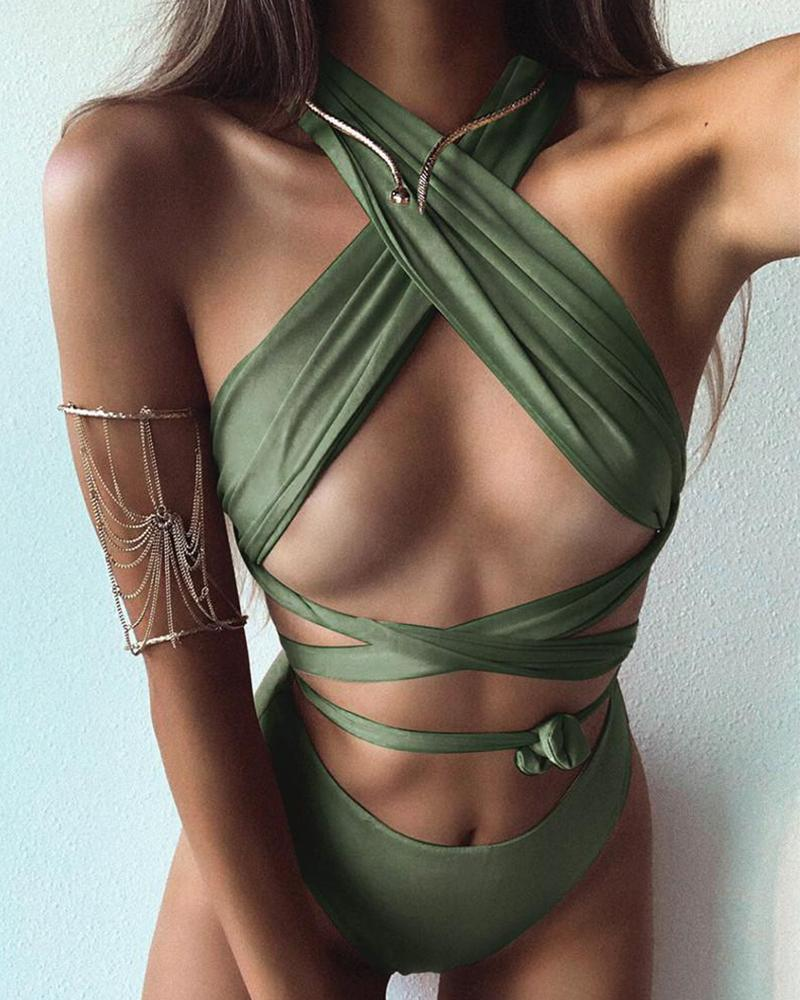 Crisscross Two-Piece Bikini Set фото