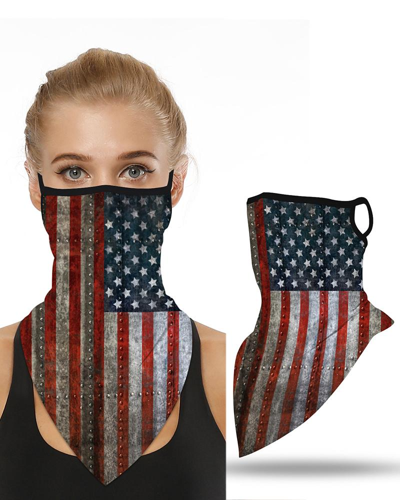 Flag Print Breathable Ear Loop Face Cover Windproof Motorcycling Dust Outdoors фото