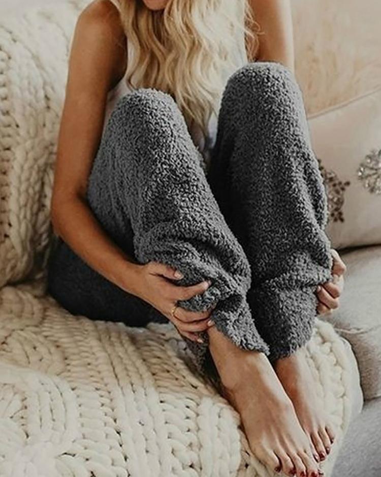 boutiquefeel / Pantalones casuales de cintura elástica esponjoso