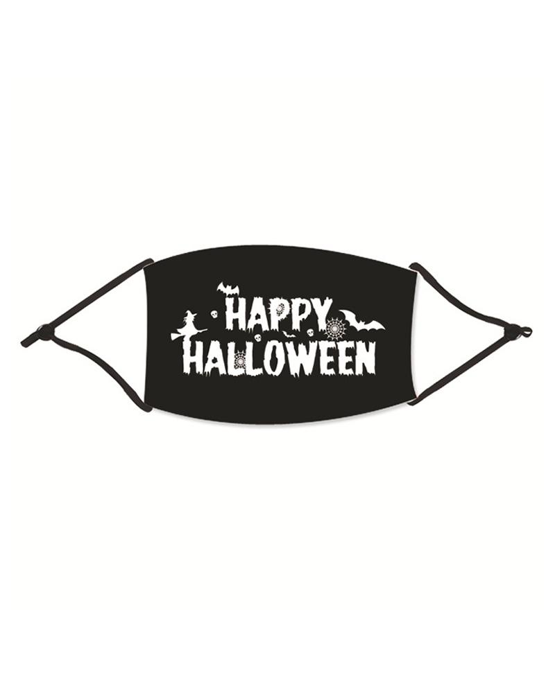 chicme / Mascarilla de algodón reutilizable lavable con estampado de fantasmas de Halloween