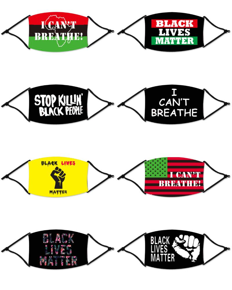 Letter Slogan Print Colorblock Breathable Mouth Mask фото