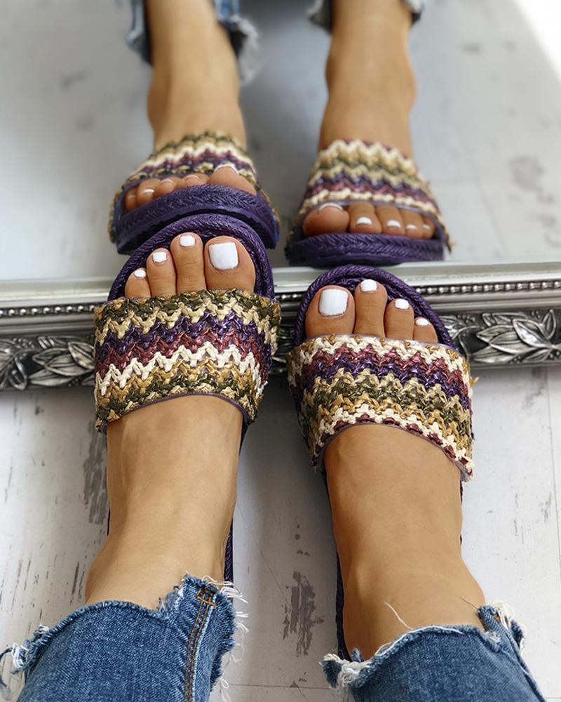 Boho Style Braided Flat Sandals фото