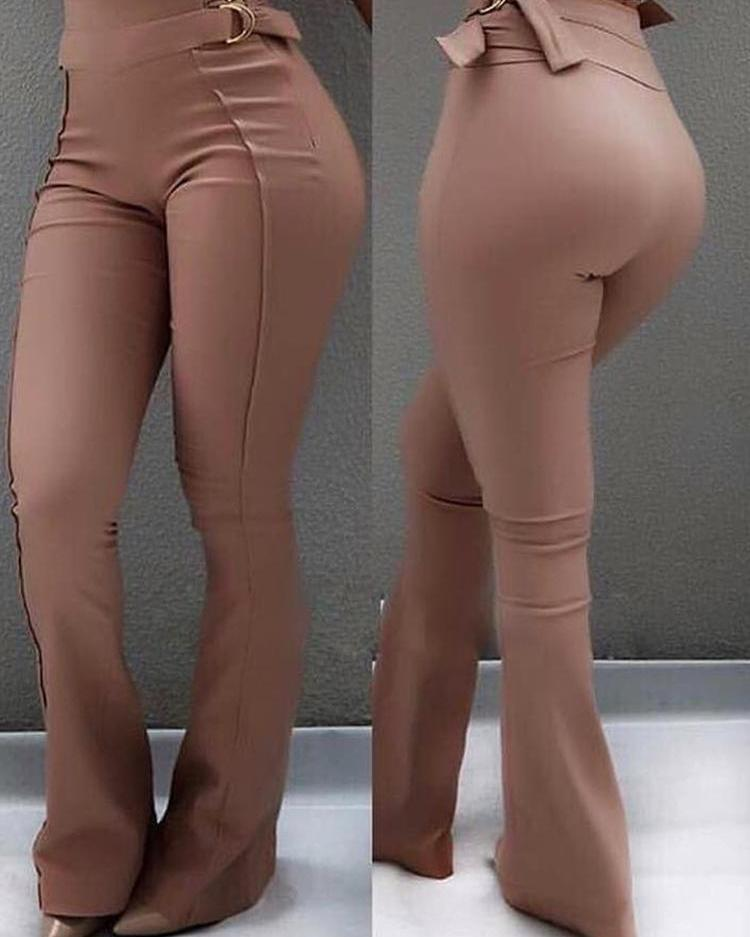 chicme / High Waist Flared Bottom Pants