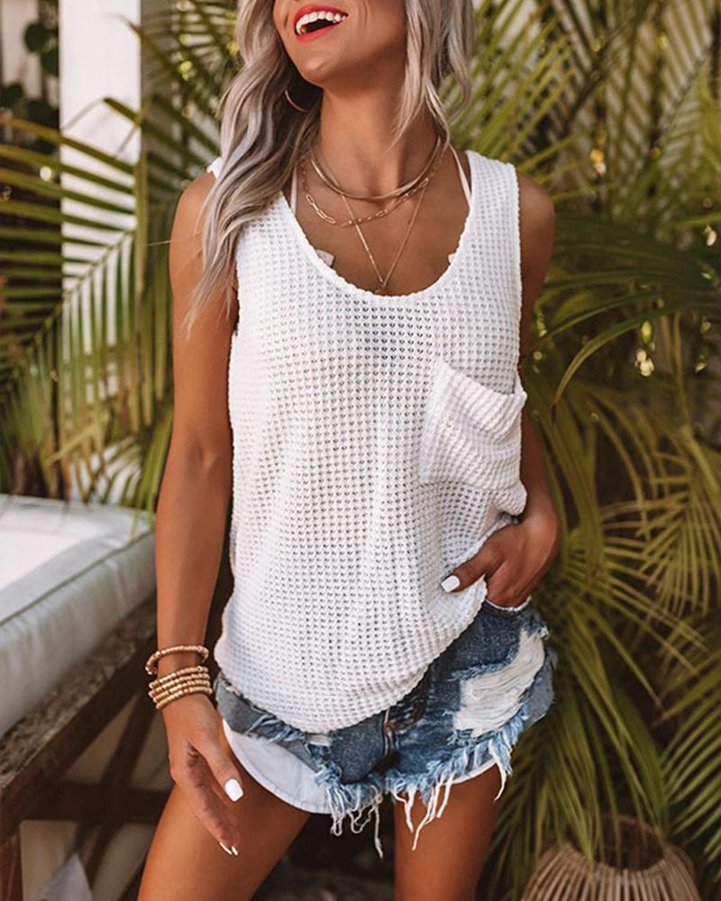 Front Pocket Tank Top фото