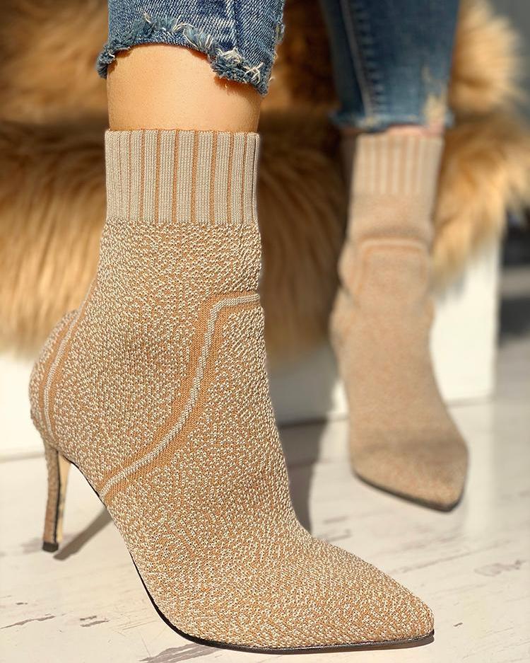Knitting Thin Heeled Sock Boots