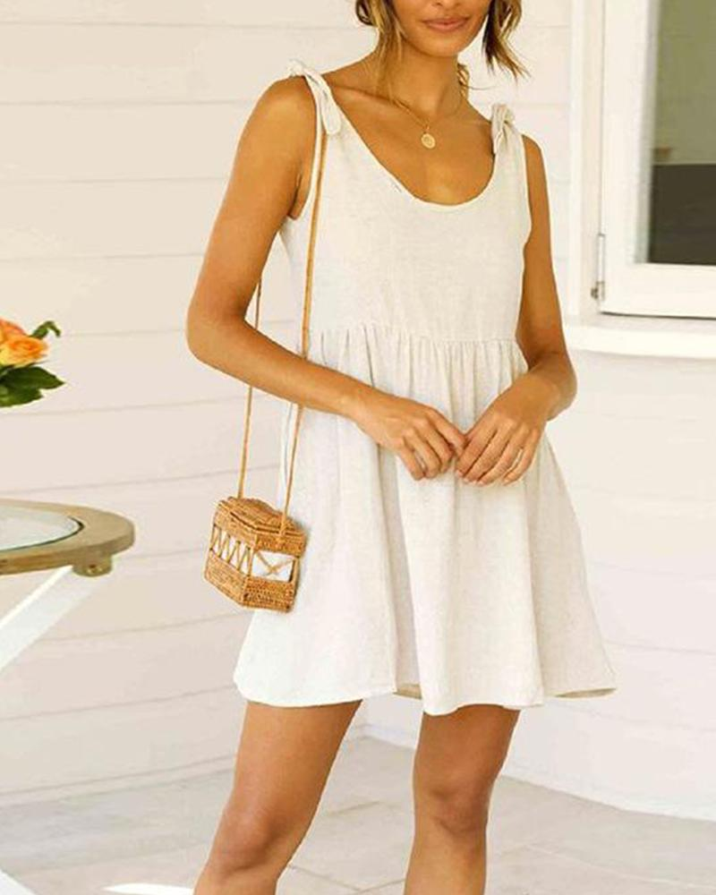 Tie Strap Smock Mini Dress