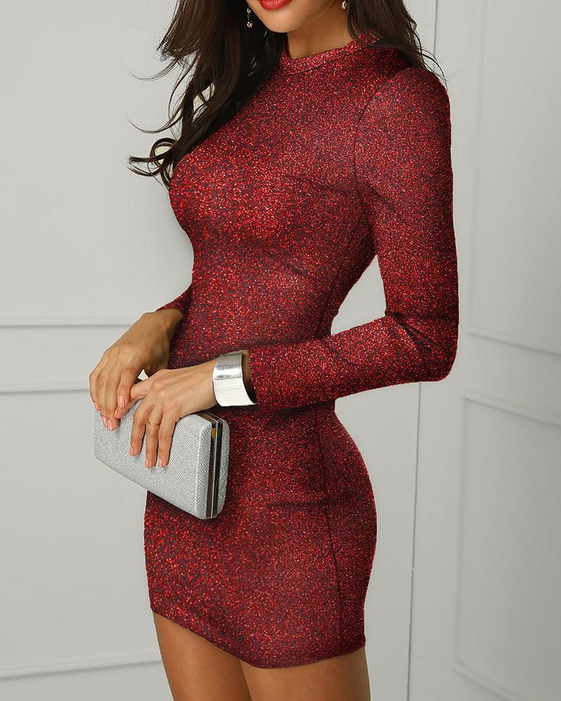 joyshoetique / Glitter Backless Bodycon Dress