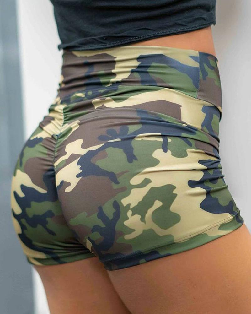 Camouflage Printed Sporty Short фото