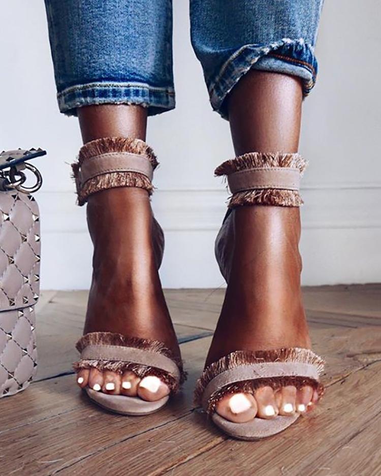 chicme / Borla sexy que emenda a sandália fina do dedo do pé aberto