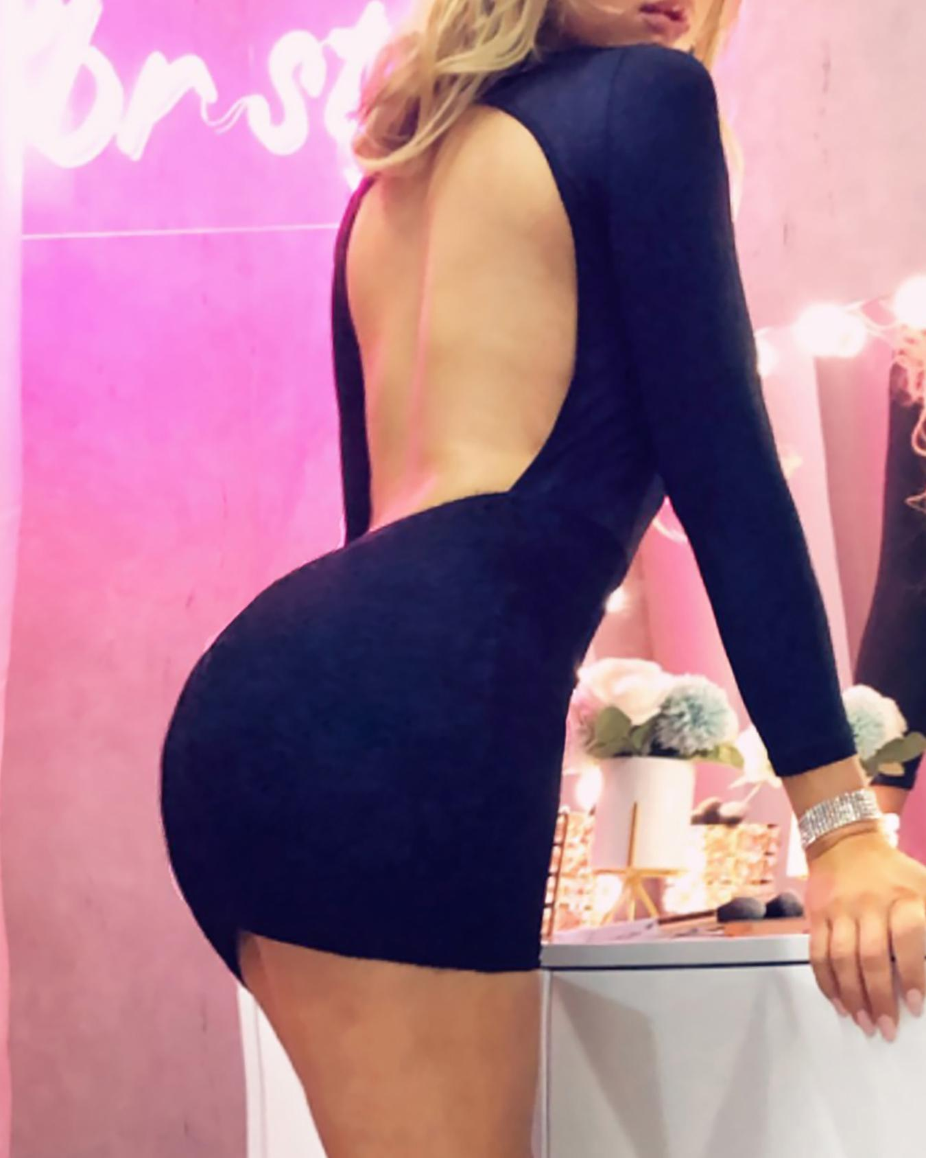 Open Back Lace Bodice Party Dress фото