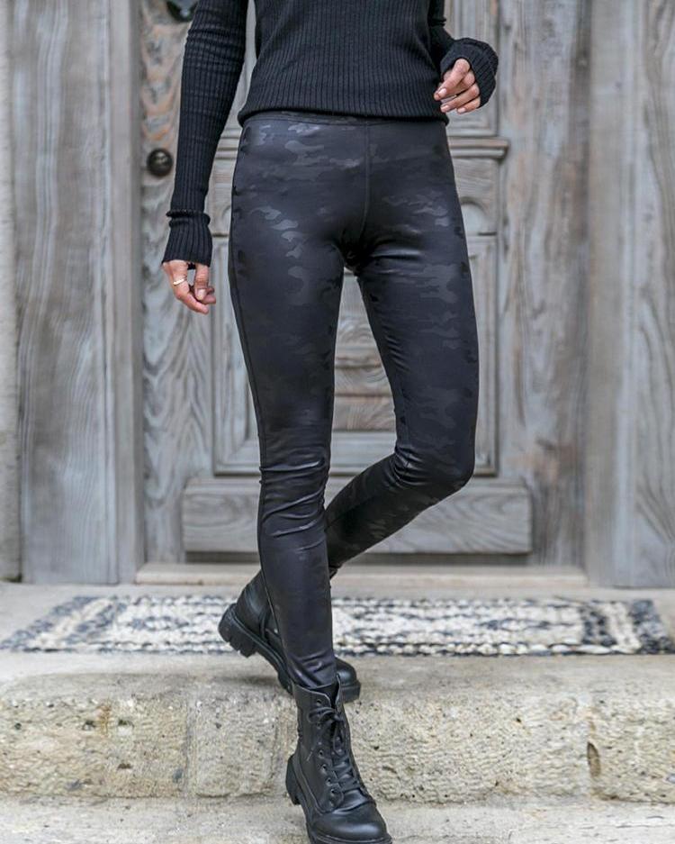 High Waist Camo Casual Pants фото