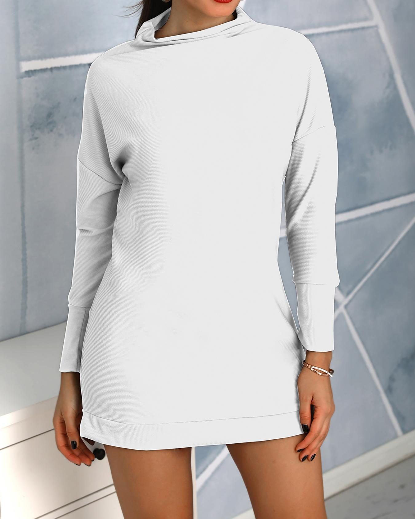 Round Neck Long Sleeve Casual Dress фото