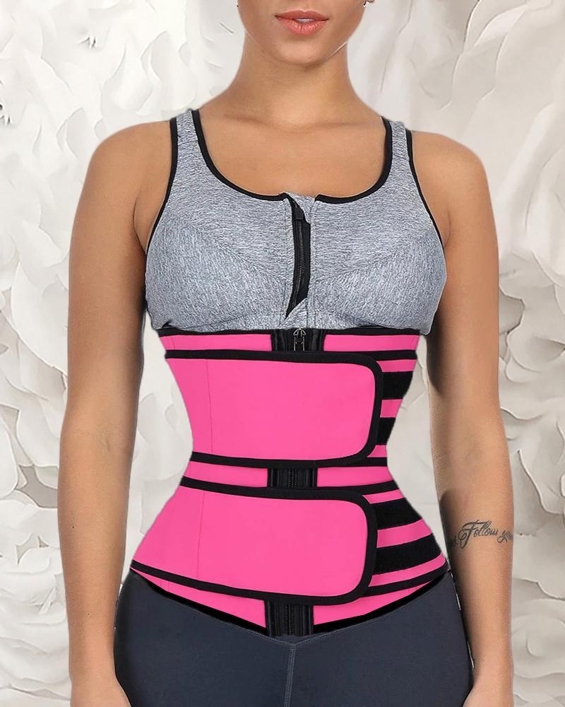 Solid Waist Trainer Corset Neoprene Sweat Belt Tummy Slimming Sport Shapewear Breathable Belly Fitness Modeling Strap Shaper фото